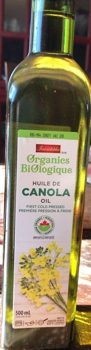 Organic canola oil - Huile de canola biologique - Produit - fr
