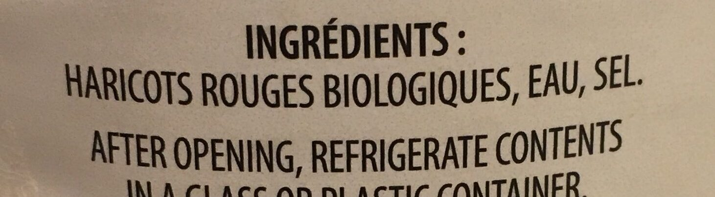 Haricots rouge - Ingredients - fr