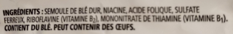 cavatappi - Ingrédients - fr