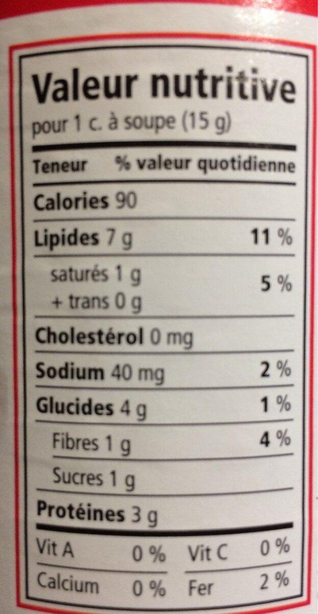 Selection Peanut Butter 1KG Crunchy - Informations nutritionnelles - fr