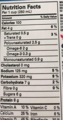 Fortified soy beverage - Informations nutritionnelles - en