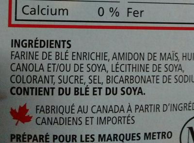 mini cornets - Ingredients - fr