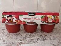 Collation aux fruits pommes et fraises - Produit - ca