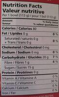 Collation aux fruits pommes et fraises - Informations nutritionnelles - ca