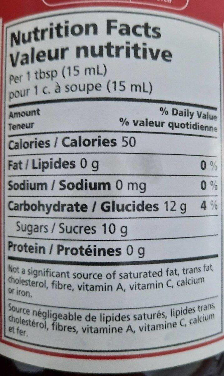 Fraises mûres - Nutrition facts - fr