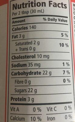 Lait condensé - Nutrition facts - fr