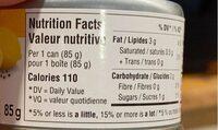 Thon pale citron - Informations nutritionnelles - en