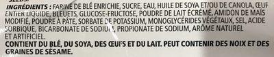 Muffins Bleuets - Ingrédients - fr
