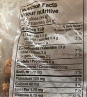 Pain de mie - Informations nutritionnelles - fr