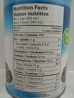 Dark red kidney beans - Nutrition facts - fr