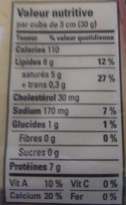 Gouda - Nutrition facts - fr