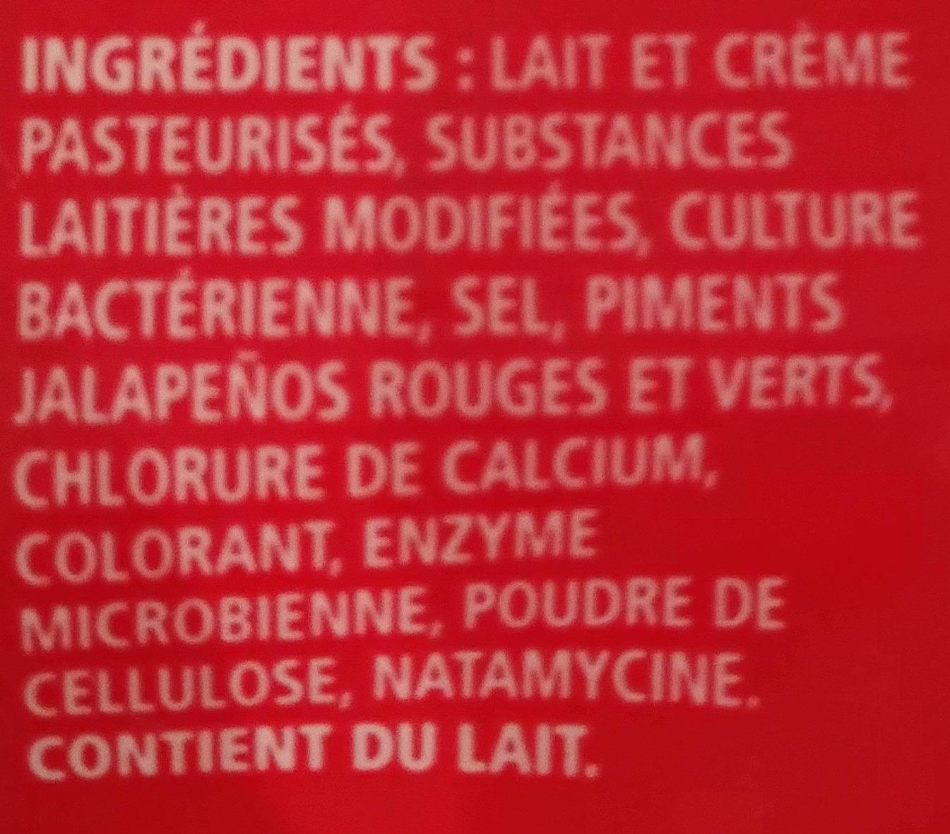 Mélange de fromages râpés tex mex - Ingrédients - fr