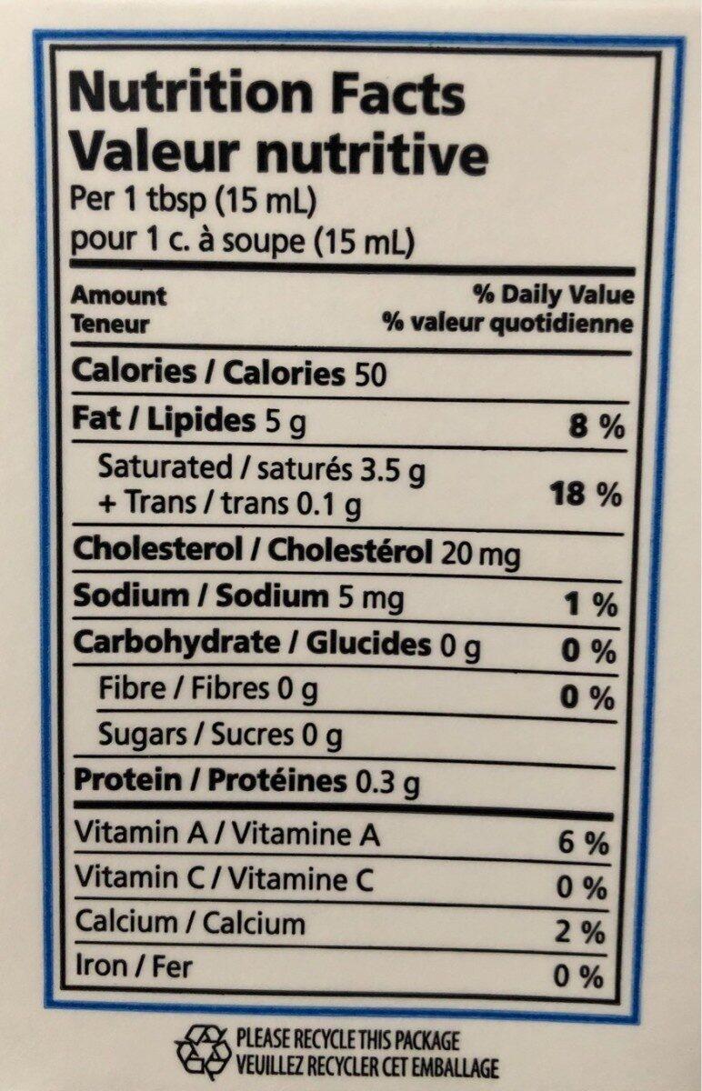 Crème à cuisson 35% - Informations nutritionnelles - fr