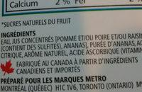 Mélange de jus 100% - Explosion d'ananas - Ingrédients - fr