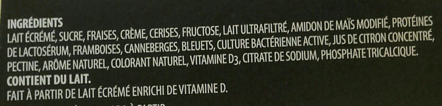 Le Crémeux Yogourt brassé - Ingredients