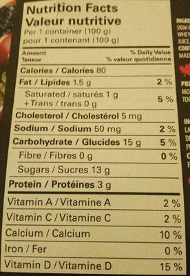 Le Crémeux Yogourt brassé - Nutrition facts