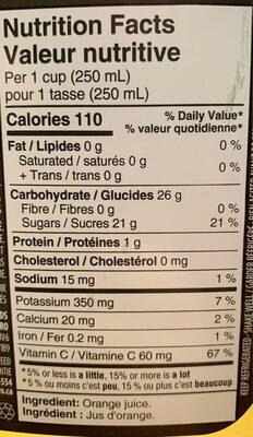 Toujours 100% pur - Informations nutritionnelles - ca