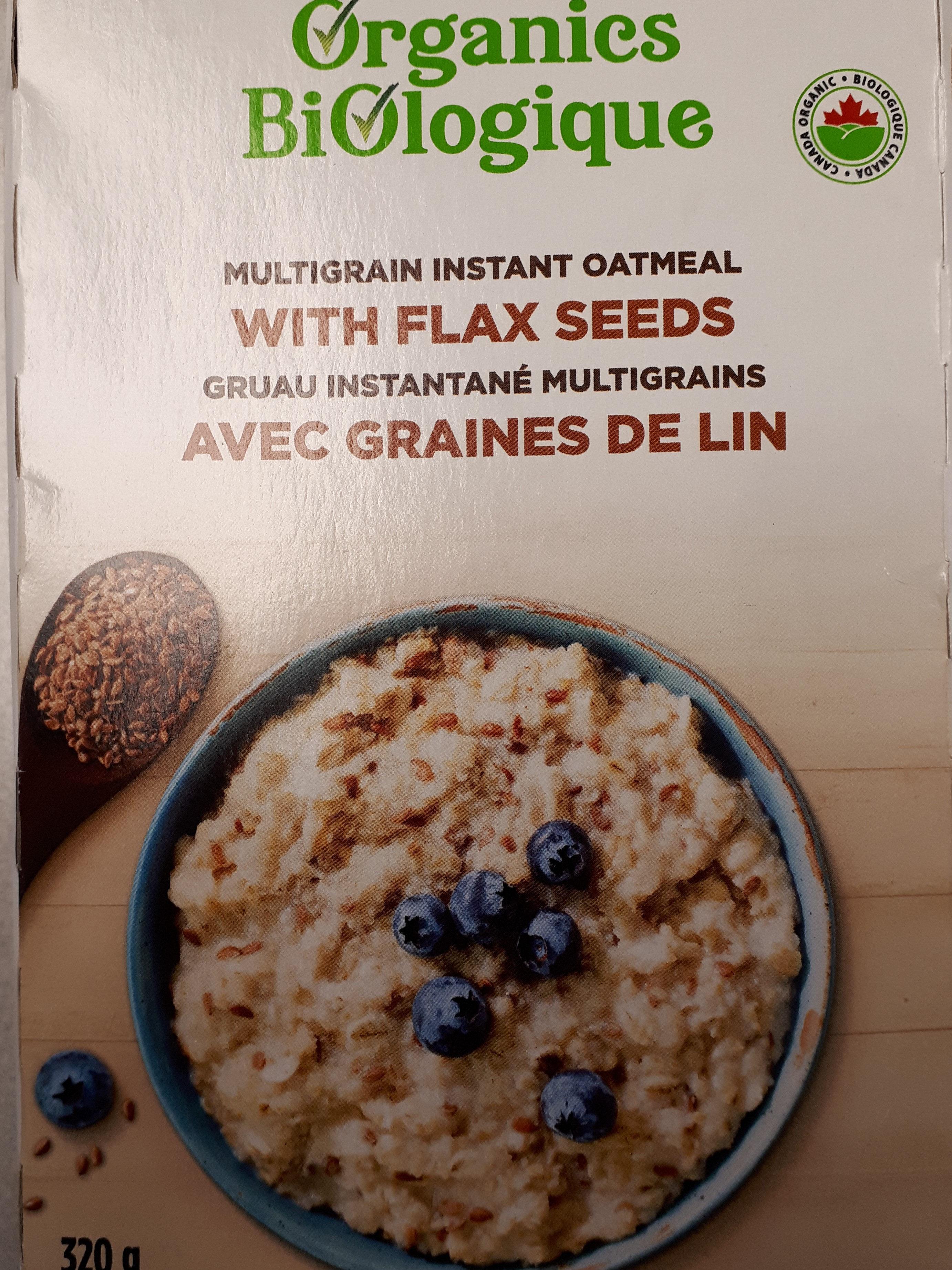 Gruau instantané multigrains avec graine de lin - Product - fr