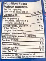 Fromage râpé - Informations nutritionnelles - fr