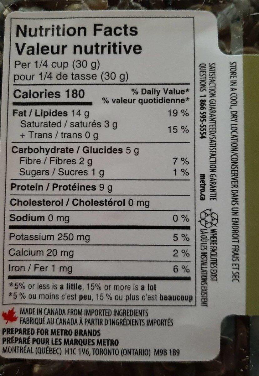 Graines de citrouille - Nutrition facts - fr