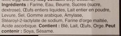 Croissants au beurre - Ingrediënten