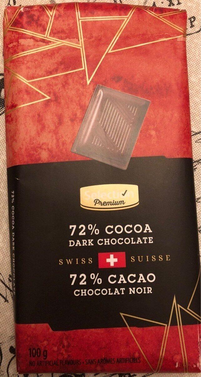 72% cacao chocolat noir - Produit - fr