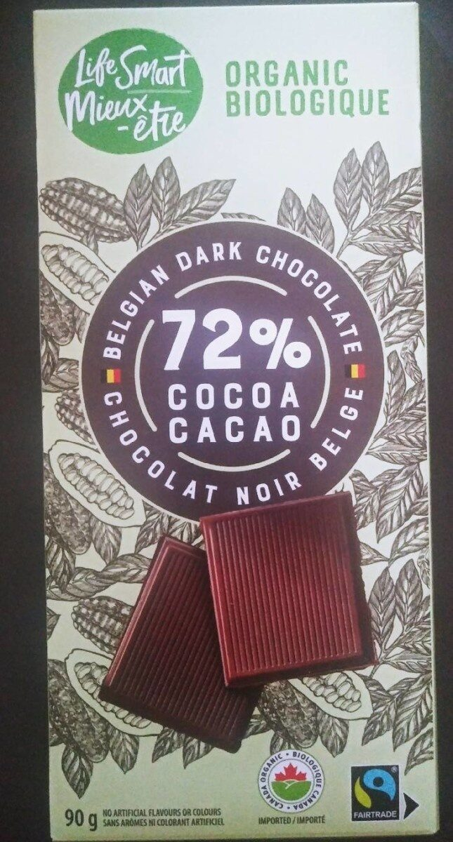 Chocolat noir Belge 72% - Product - fr