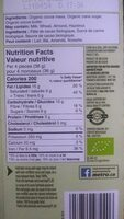 Chocolat noir Belge 72% - Nutrition facts - fr