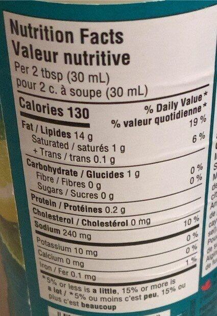 Vinaigrette César - Informations nutritionnelles - fr