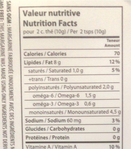 Margarine Oméga-3 - Nutrition facts - fr