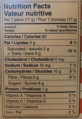 Turtles Original - Informations nutritionnelles - en