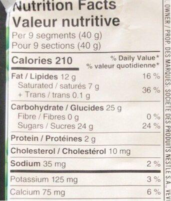 Aero - Informations nutritionnelles - fr