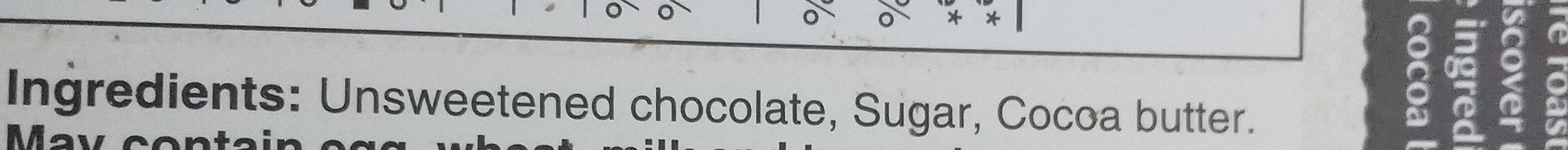 Chocolat noir - Ingredients - en