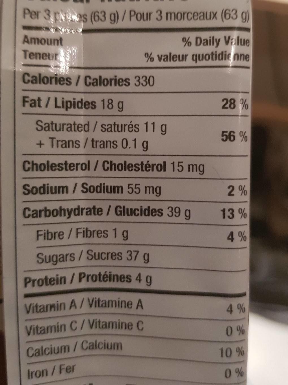 Barre De Chocolat Aero (grand Format) - Nutrition facts - fr