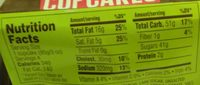 Chocolate Cupcakes - Nutrition facts