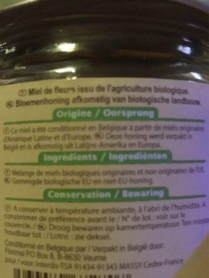 Miel de fleurs liquide vloeibare - Ingrediënten