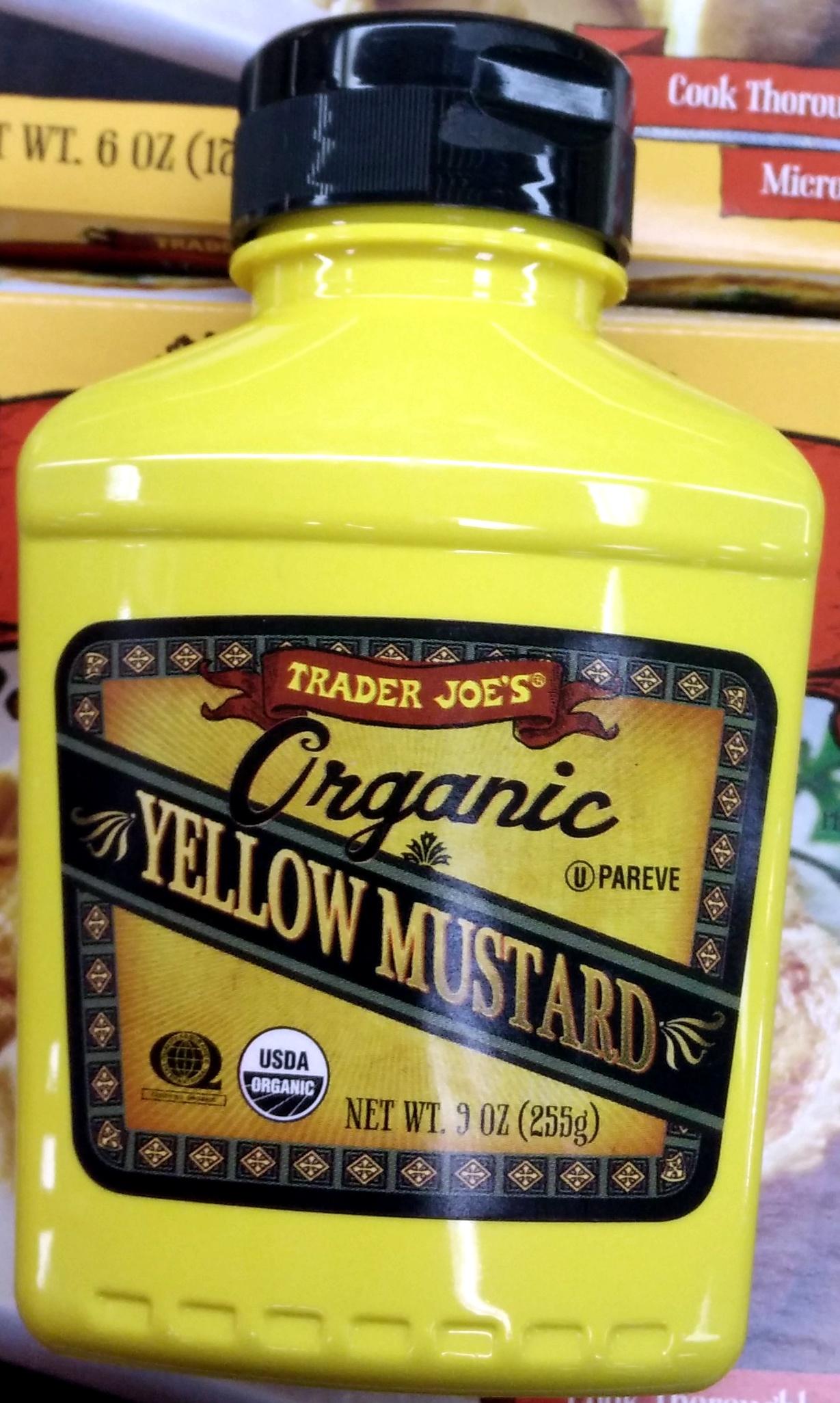 Trader joe's, organic yellow mustard - Product - en