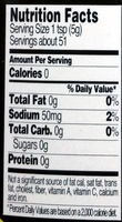 Organic Yellow Mustard - Nutrition facts