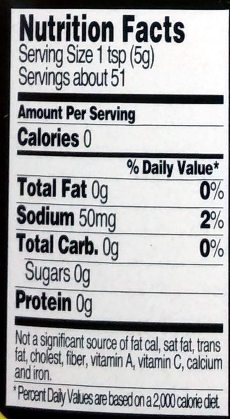 Trader joe's, organic yellow mustard - Nutrition facts - en