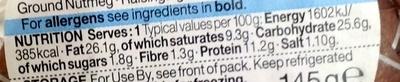 Melton Mowbray Pork Pie - Nutrition facts - en