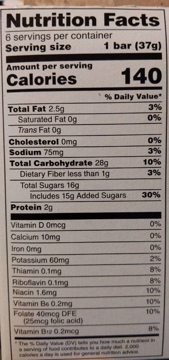 This strawberry walks into a bar - Nutrition facts - en