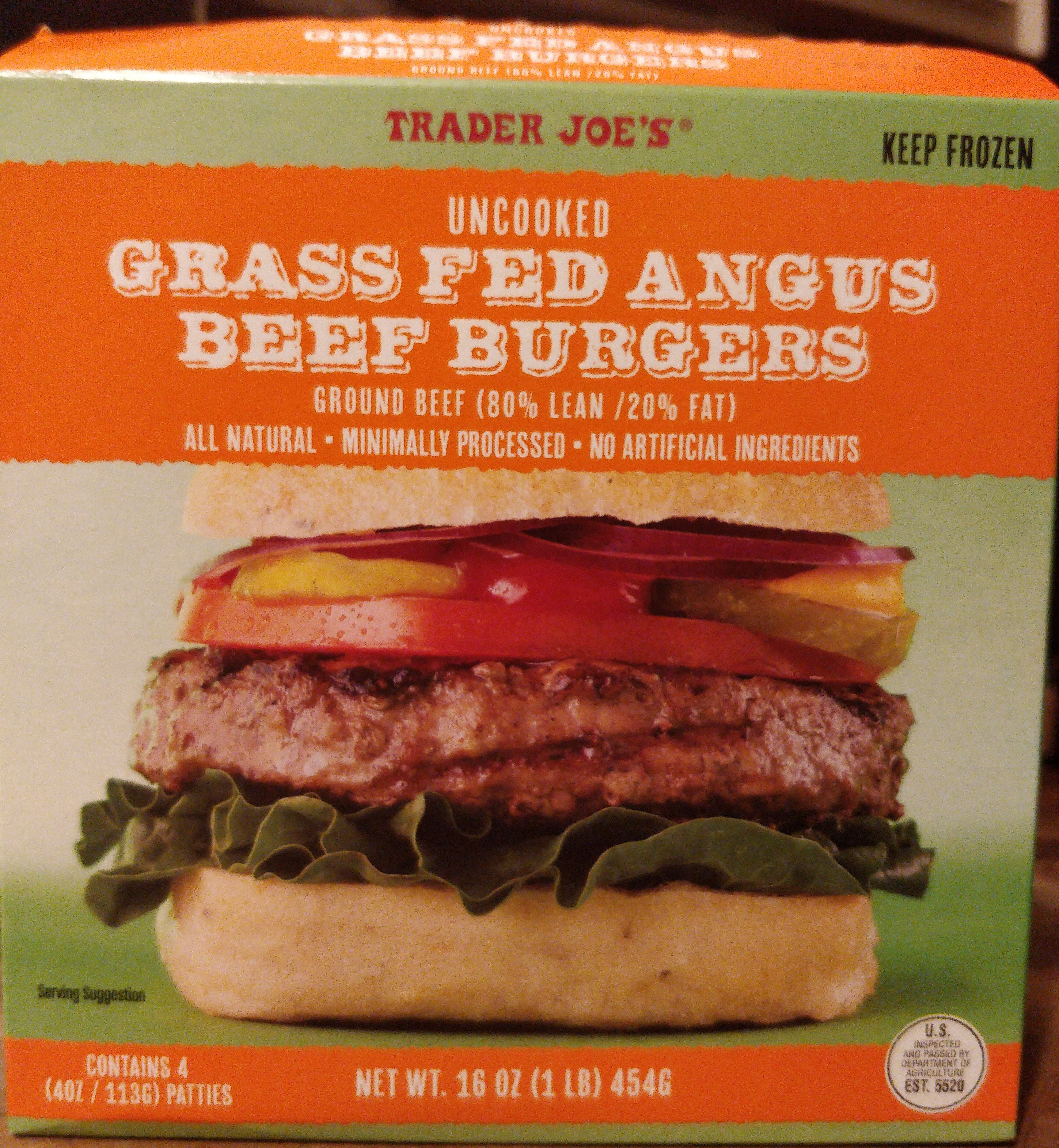 Uncooked Grass Fed Angus Beef Burgers - Product - en