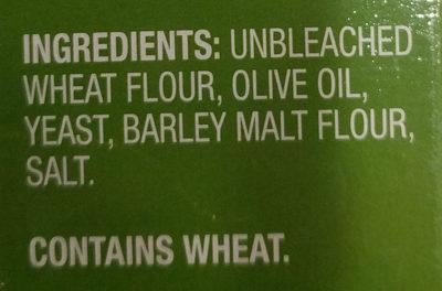 Italian breadsticks with olive oil - Ingredients - en