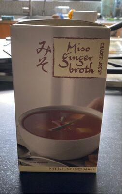 Miso ginger broth - Product - en