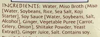Miso ginger broth - Ingredients - en