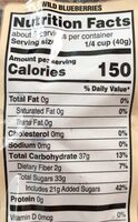 Dried Wild Bluberries - Nutrition facts - en