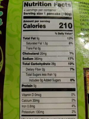 Scallion Pancakes - Nutrition facts - en