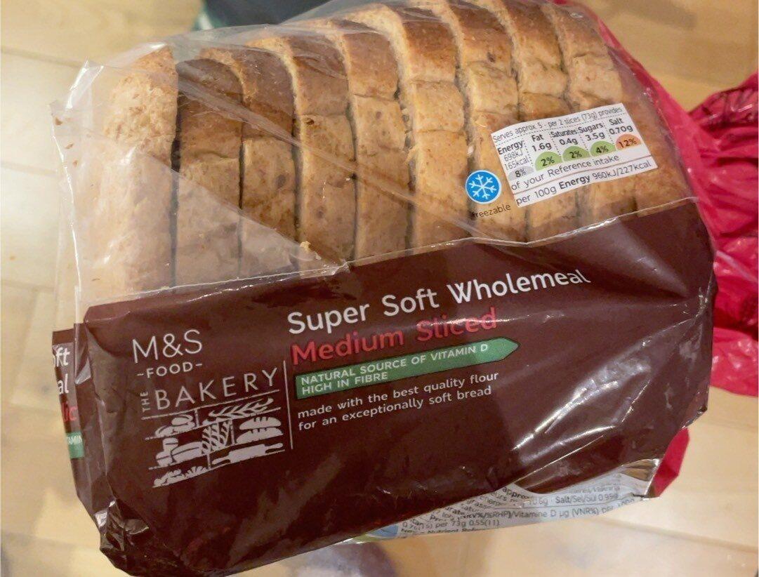 Super Soft Wholemeal medium sliced - Product - en