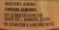 trade a joes peanut butter - Ingredients - en