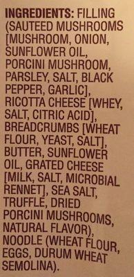Porcini mushroom & truffle ravioli - Ingredients - en